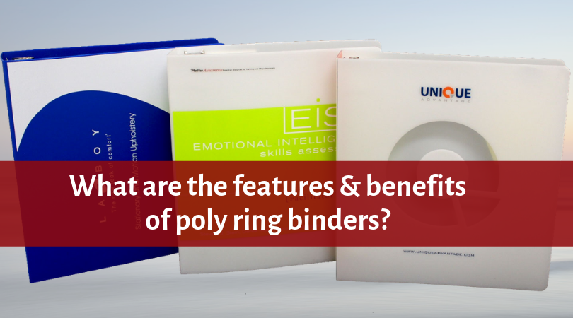 What are the features and benefits of Poly Ring Binders?
