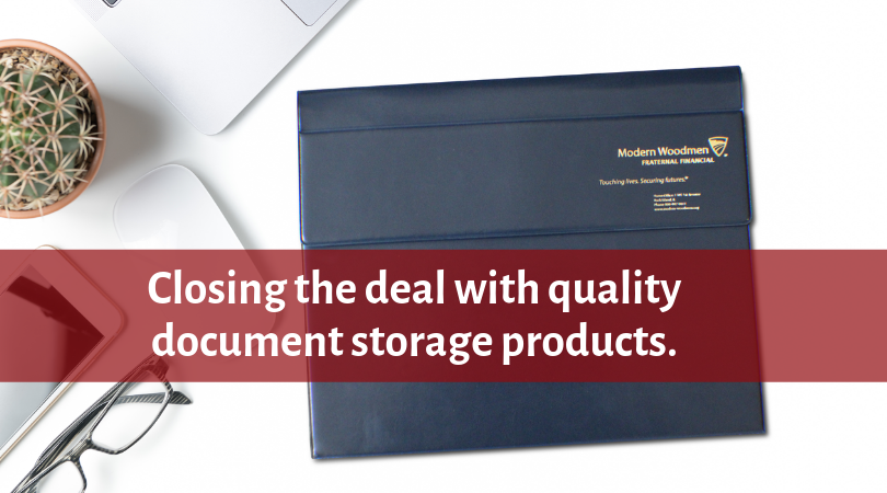 Closing the deal with quality document storage products.